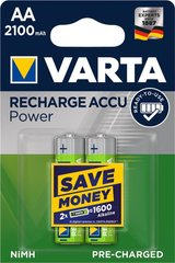 Аккумулятор VARTA RECHARGEABLE ACCU AA 2100mAh BLI 2 NI-MH (READY 2 USE) (56706101402)