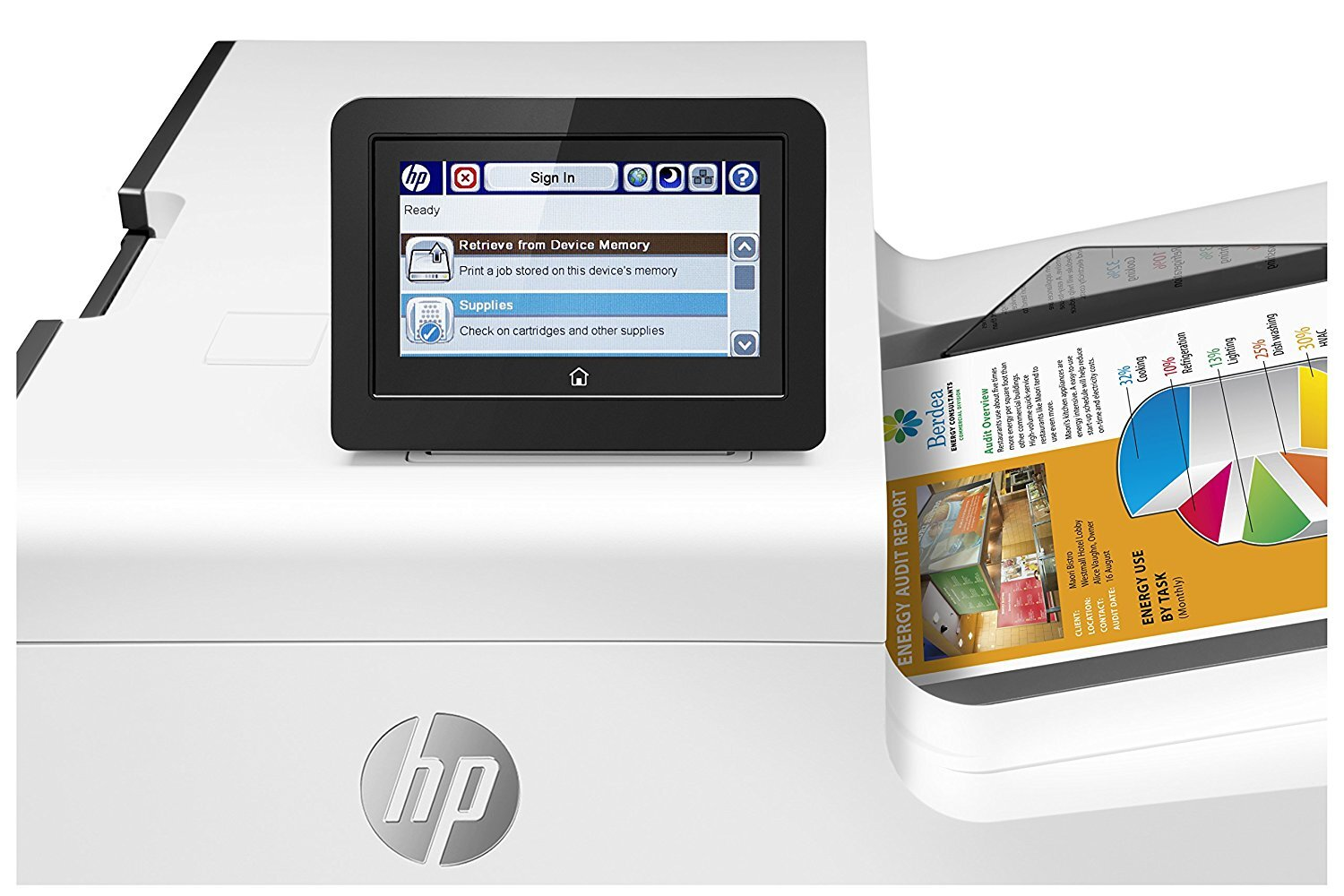 Принтер A4 HP PageWide Enterprise 556xh с Wi-Fi (G1W47A)